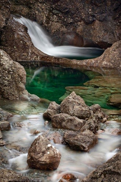 The Fairy Pools, Scotland.  I so want to see this!