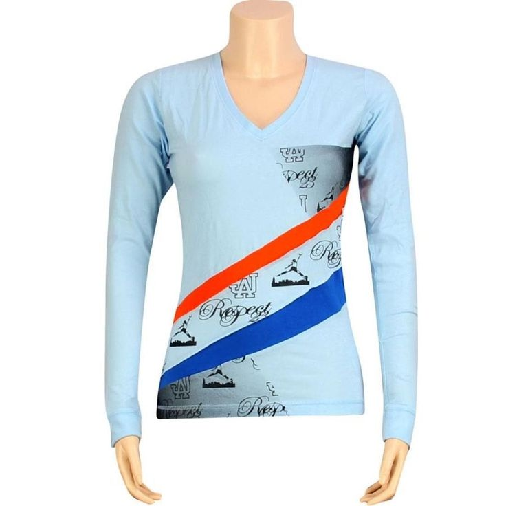 $90 Women Nike Air Jordan Retro Jumpman Long Sleeve Xi 11 (Blue) Fashion Shirt
