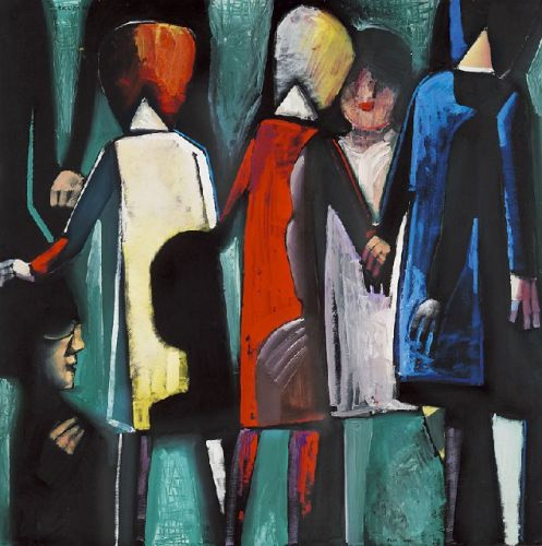 Parade, by Charles Blackman, 1962. Oil on composition board.