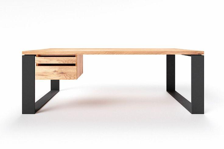 Schreibtisch Nach Mass Eiche Wohnsektion In 2021 Eiche Eiche Massiv Schreibtisch