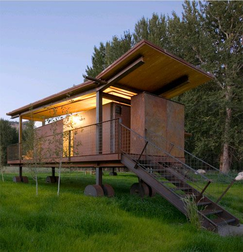 Compact Mini House Includes Porch.