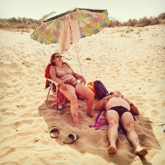 """Sony World Photography Awards: Turi Califato, category Mobile,  """"A day on the beach"""""""