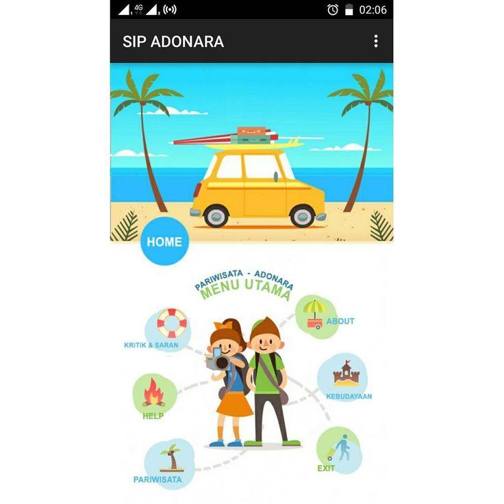 layout design android tourism app eclipse java php json mysqli