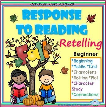 Want to help your young readers understand what they read? Try these Graphic Organizers for Response to Reading! *Beginning-Middle-End *Characters-Setting-Plot *Character Study *Connections Text-Self Text-Text Text-World Beginner Comprehension Skills $