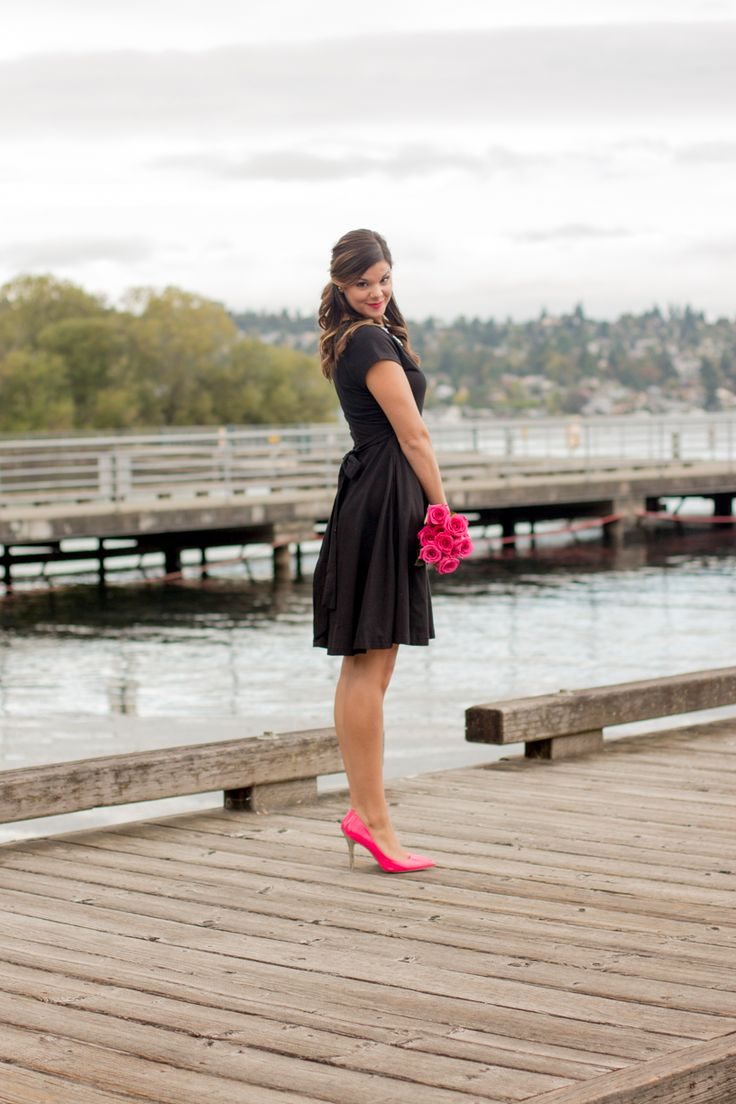 Little Black Dress | Classic Wrap Dress | Custom Made by Eshakti | www.stylemissmolly.com