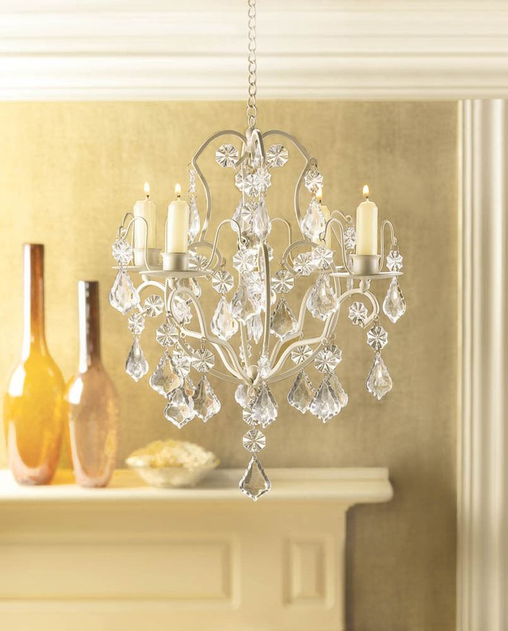 Chic Dazzling Shabby Distress Chic Beaded Chandelier
