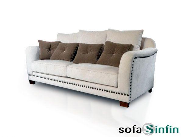 Sofá clásico de 3 y 2 plazas modelo Etiem fabricado por De Paula en Sofassinfin.es