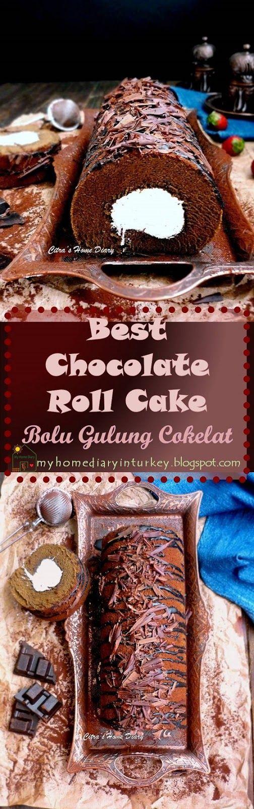 Best Chocolate Swiss Roll Cake / Bolu Gulung Cokelat yang lezat. #swissrollcake #chocolaterollcake #cakerecipes #dessert #chocolatedessert