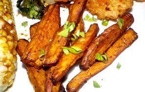 Balsamic Basil Sweet Potatoes (Actifry) - RecipeZazz