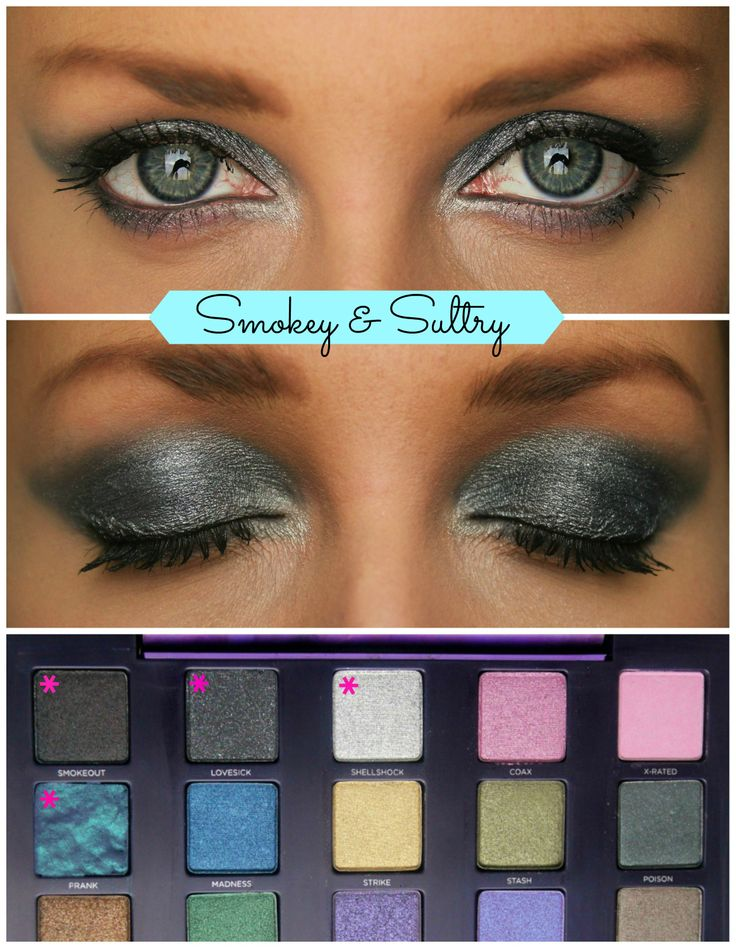 3 looks using the Urban Decay Vice 2 palette