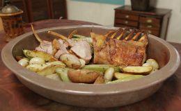 Olivier ensina a receita de carré de leitoa com legumes e de salada de abacate recheado com siri.