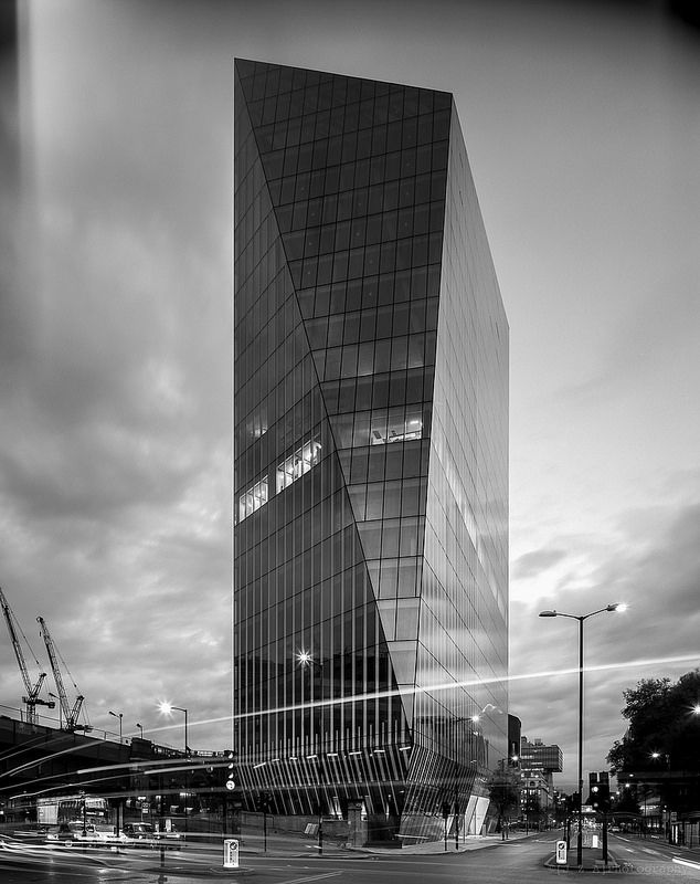 AHMM Architects new tower in Blackfriars. I love how the process of using 5x4 film impacts on the final image