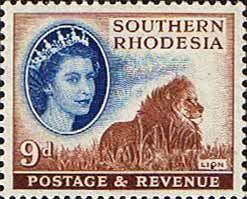 Southern Rhodesia 1953 QE II SG 85 Lion Fine Mint SG 84 Scott 88 Other Rhodesian Stamps HERE
