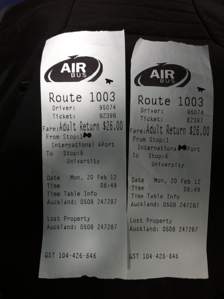 Airbus tickets / Aukland airport