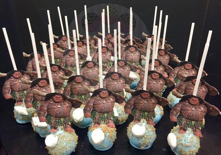 Maui cake pops Disney Moana cake pops Moana cake pops