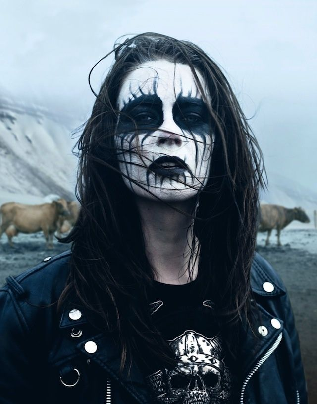 Black Metal Face Paint With Beard