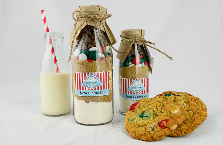 Santa's Cookie Mix Milk Bottle Mixer. Available to purchase from http://www.sweethealth.com.au