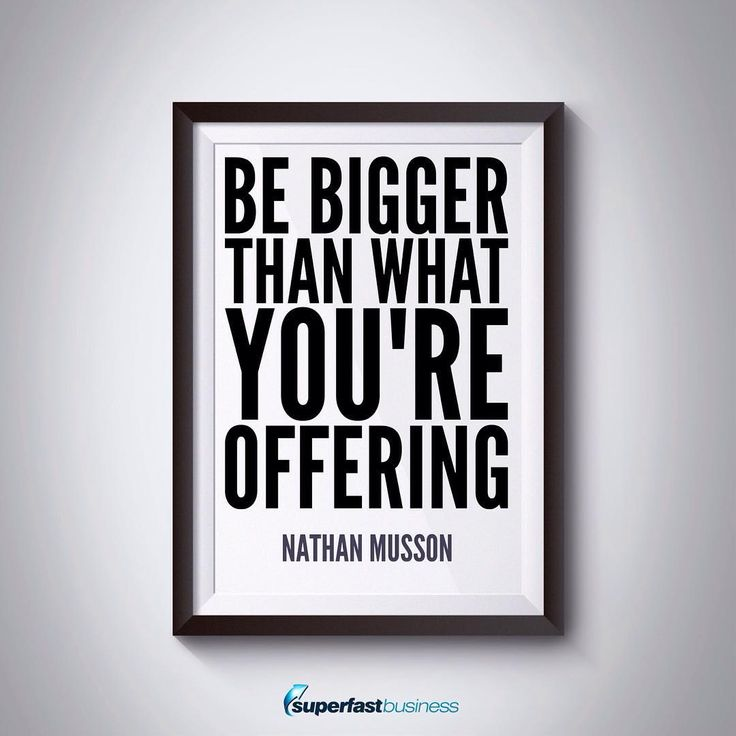 Be bigger than your platform and look further than what you're currently seeing. #business #success #entrepreneur