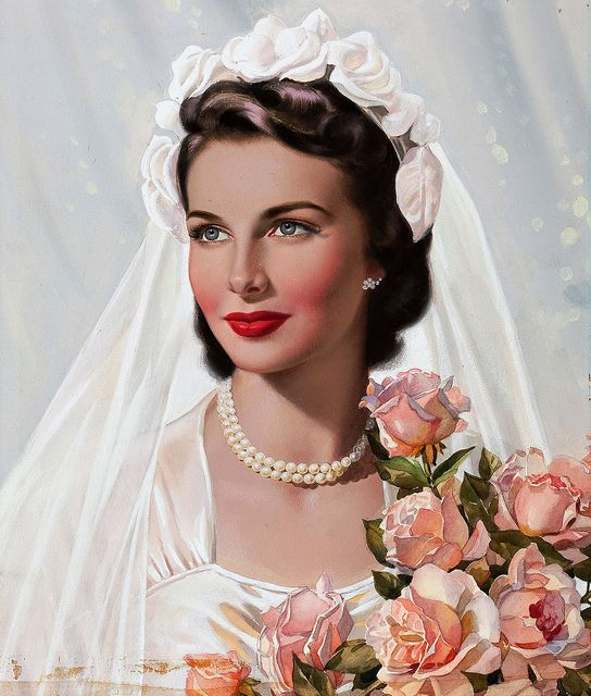 Timelessly, enchantingly beautiful. #bride #vintage #wedding #dress #veil #flowers #art