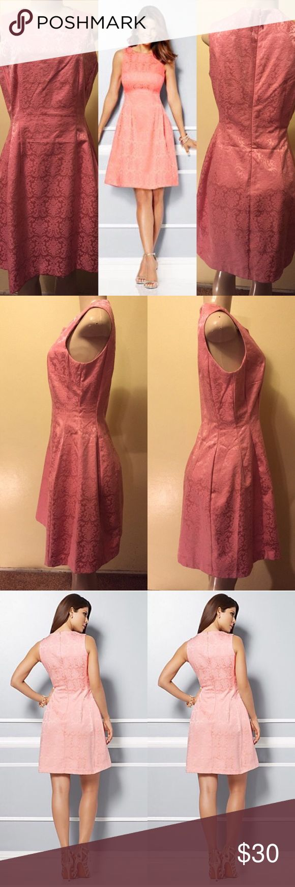 Dress By Eva Mendes CollectionMaria Jacquard dress Pink dress Mini by Eva Mendes Collection. Excellent Condition. Worn once! Like new! No stains nor rips! Eva Mendes Dresses Mini