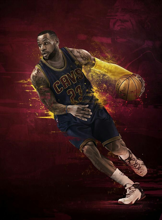 Nba Wallpapers Lebron James Sports Art Cleveland Cavs Basketball Stuff Players Stephen Curry Darcy Illustration