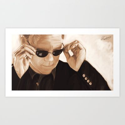 Horatio Caine / David Caruso Duotone Art Print by Richard Eijkenbroek - $16.64