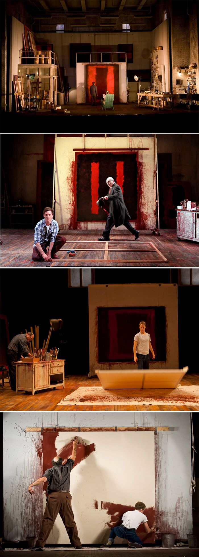 """Red is a play by American writer John Logan about artist Mark Rothko....The original production was directed by Michael Grandage and performed by Alfred Molina as Rothko and Eddie Redmayne as his fictional assistant Ken..."