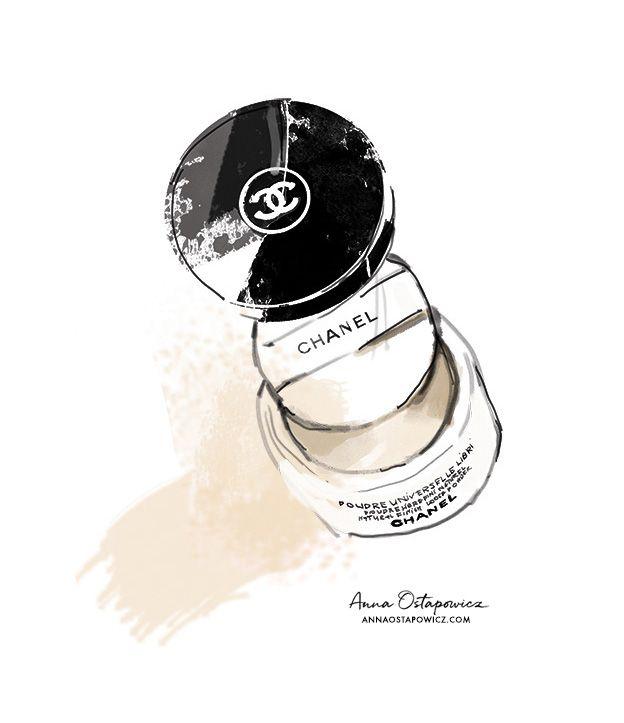 Chanel Poudre, Illustration Anna Ostapowicz