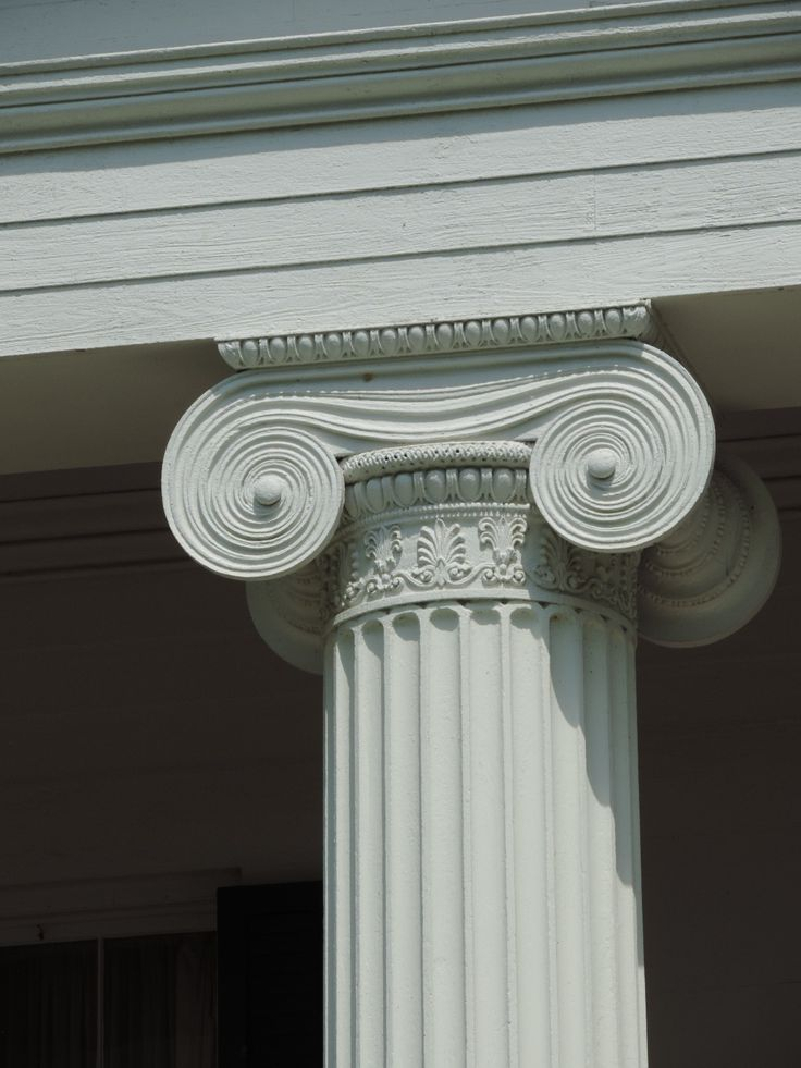 Madewood, Napoleonville, LA | A fluted Ionic column, part of the front portico on the house.