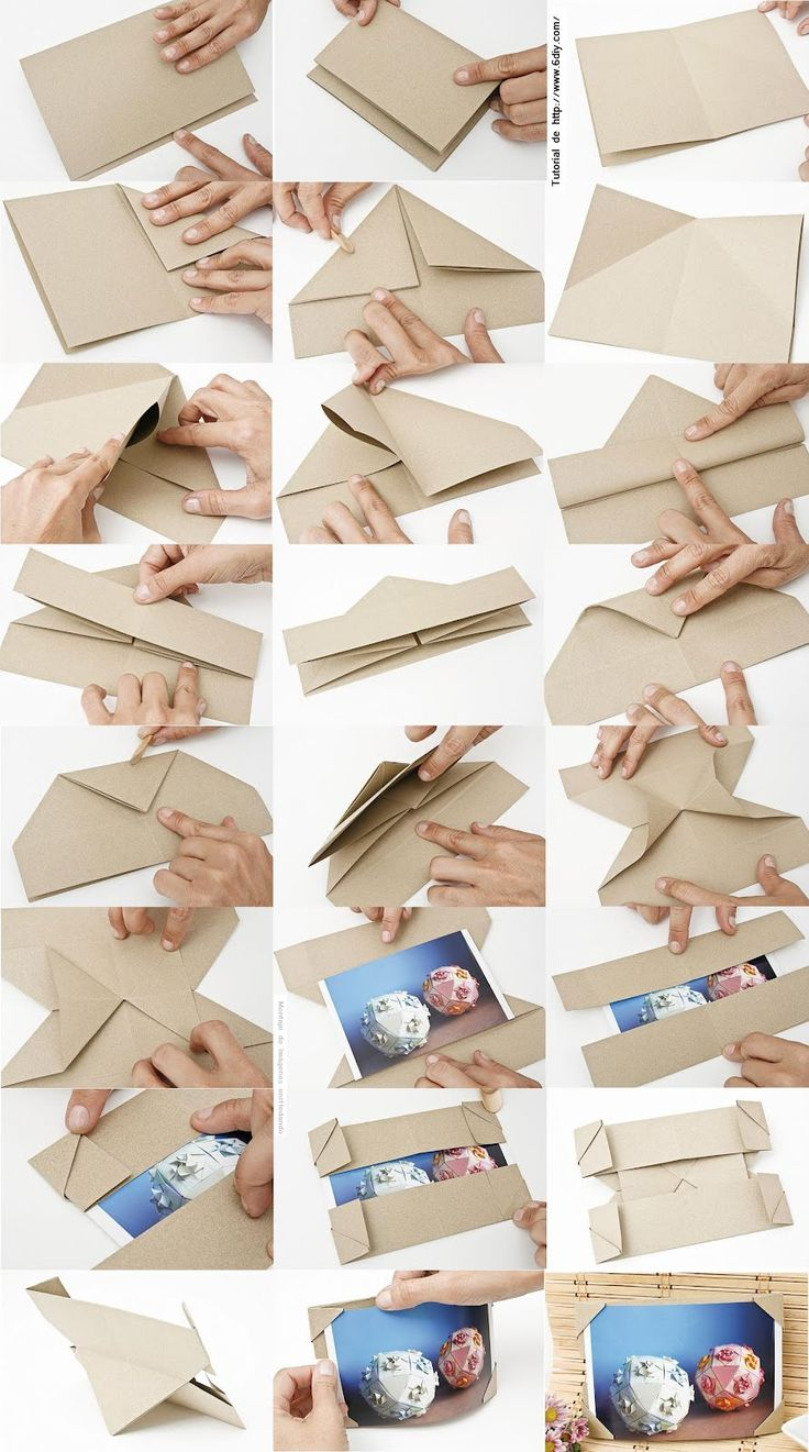 enrHedando: Como hacer un Marco de Fotos de Origami