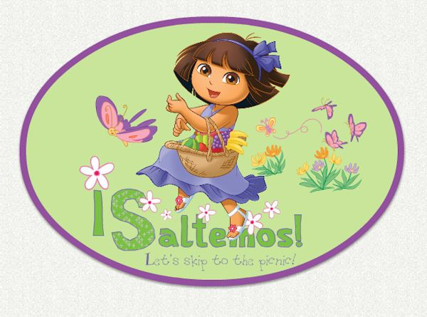 Dora The Explorer Skip To Picnic Wall Decal   Wall Sticker Outlet