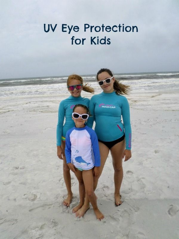 Protect your children's eyes from UV light starting at an early age by letting them pick out a pair of cool sunglasses for kids so that they'll want to wear them everyday at the beach.
