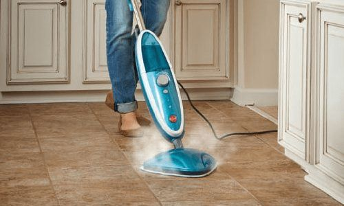 Grout cleaning steam mop