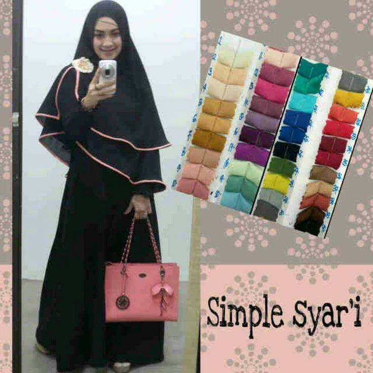 Simple syar'i - dress material jersey jeruk,  Khimar material ceruti  Minat?  Whatsapp. 082231217648  Pin bb. 2AF652FA