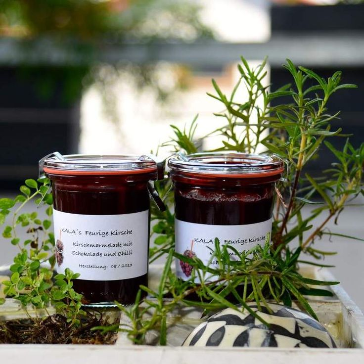 Rezept Kirschmarmelade - feurige Kirsche von kala21 - Rezept der Kategorie Saucen/Dips/Brotaufstriche