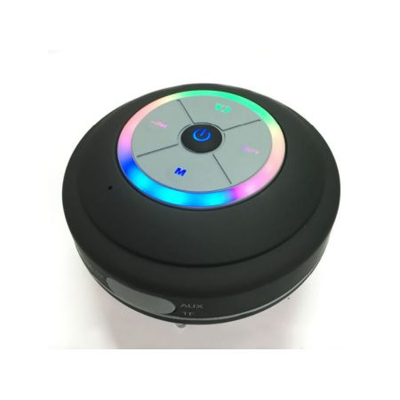 Bluetooth Shower Speaker With Fm Radio, Built In Mic And Led Mood Light