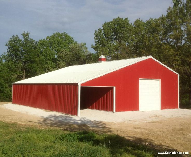 Sutherlands Garage Kits #26: 30x50x12 With 12ft Lean-to. Get A Free Custom Estimate: Http:/