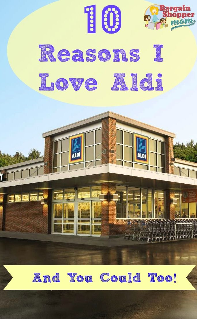10 reasons I love Aldi Shopping and you could too. Lots of great information about Aldi. How to shop there and get the best deals and the best products!