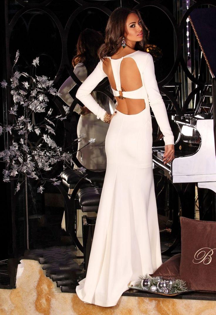 Benz Long White Dress - Baronesa Fashion House
