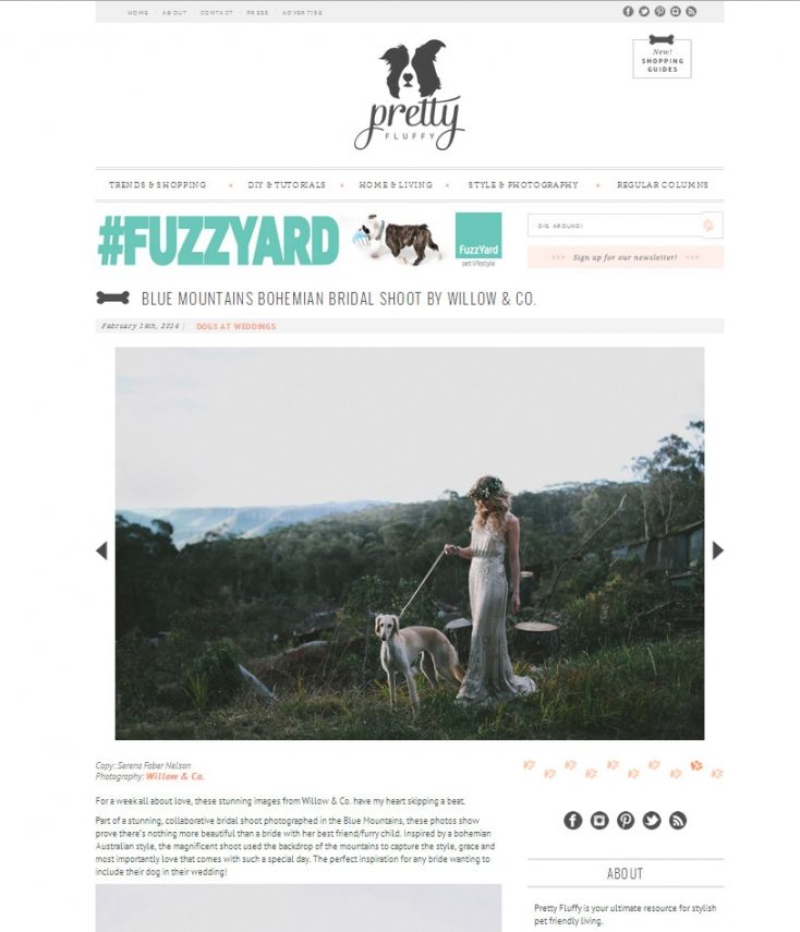 Pretty Fluffy » Dogs at Weddings Feature » Willow & Co. Blue Mountains Wedding Photographer http://willowand.co