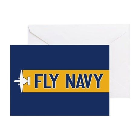 U.S. Navy: Fly Navy (E-2) Greeting Card on CafePress.com