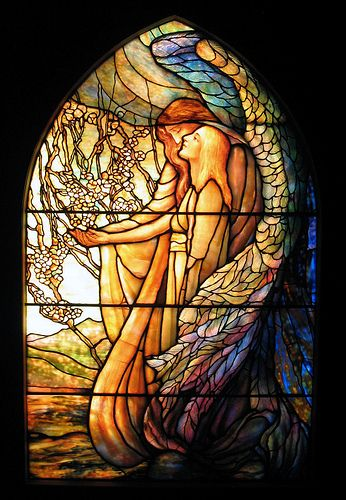 #Stained-Glass #vitraux #angel