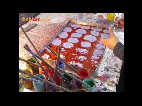 Akkase ebru yapım tekniği... Sanatçı: Eda Özbekkangay - YouTube