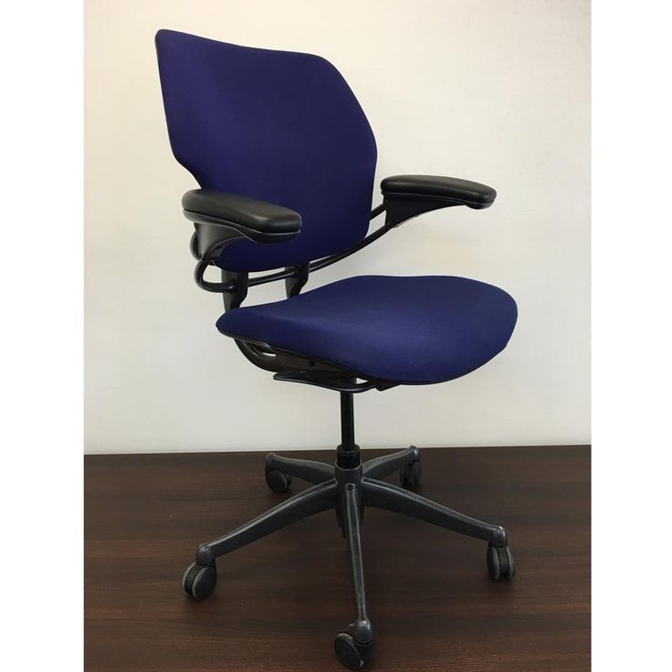Second Hand Humanscale Freedom Task Chair - Blue | A truly adaptable ergonomic office chair, which adapts to your seated position for superior comfort while you work!