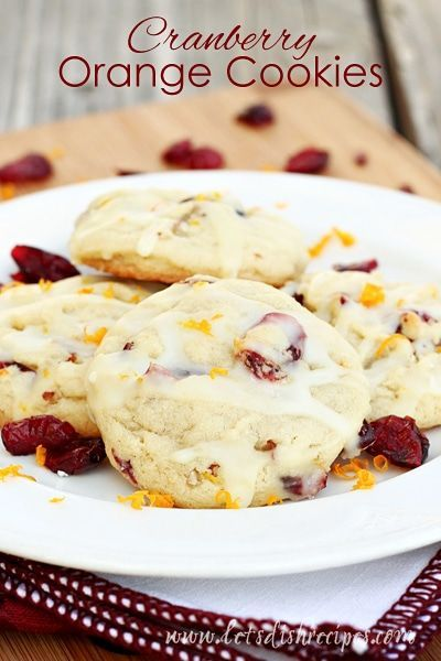 Cranberry Orange Cookies: Cranberry and orange come together in this soft and chewy holiday drop cookie.