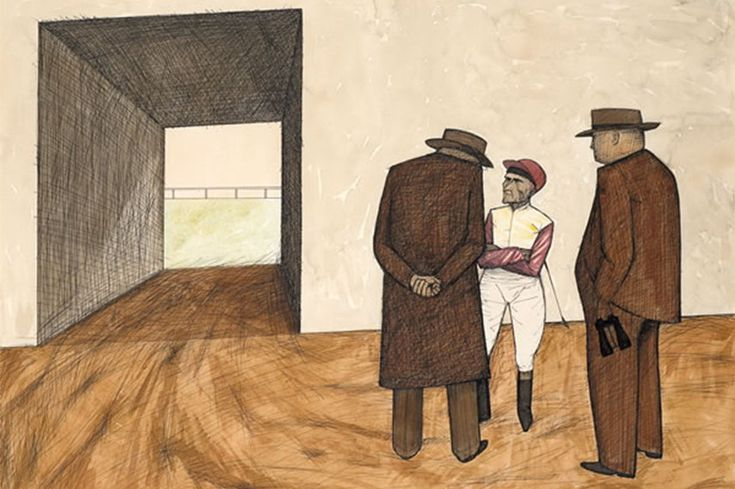 John Brack ngv  exhibition  victoria gallery  melbourne  national view  collins  new  painting