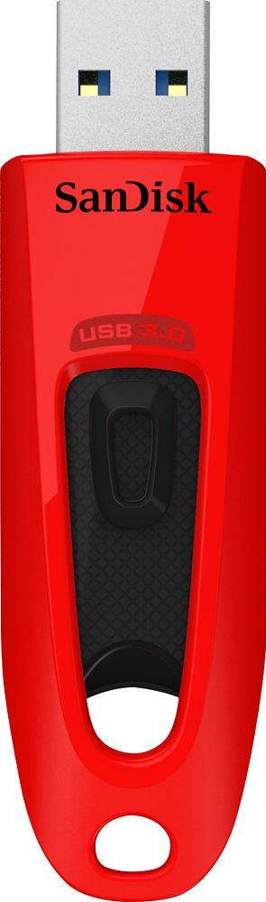 SanDisk - 64GB USB Type A Flash Drive - Red, SDCZ48-064G-A46R
