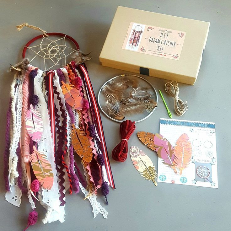 Red DIY Dream Catcher Craft Kit for Kids or