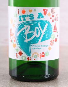Personalised Gifts - Baby: Personalised It's a Boy Bubbly!