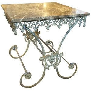 Love The Patina Of The Brass Pastry Table